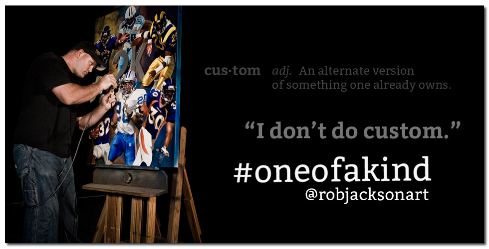 The Athletes Artist, Rob Jackson creating a #oneofakind painting.